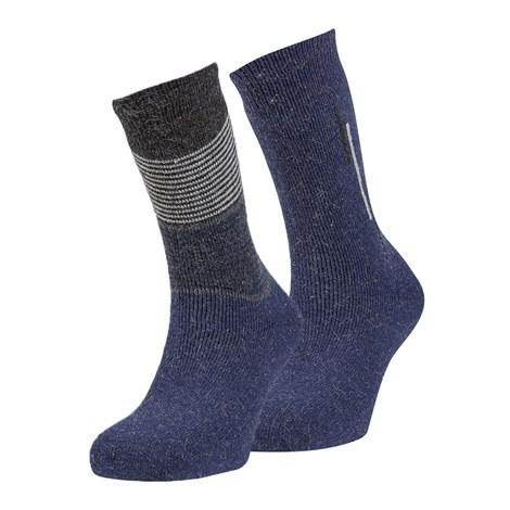 Ysabel Mora 2 pack hřejivých ponožek Sergio modrá uni