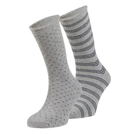 Ysabel Mora 2 pack hřejivých ponožek Oscar šedá uni