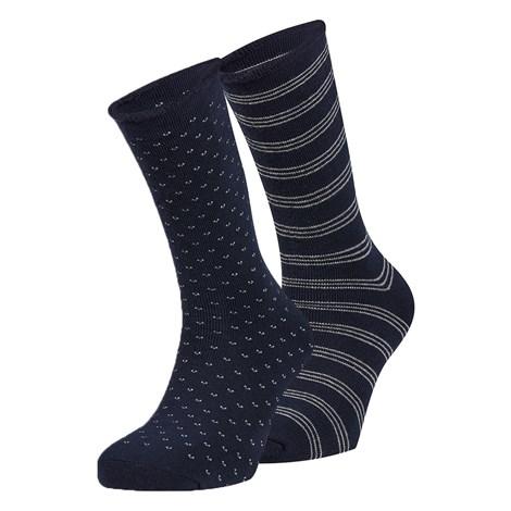 Ysabel Mora 2 pack hřejivých ponožek Oscar modrá uni