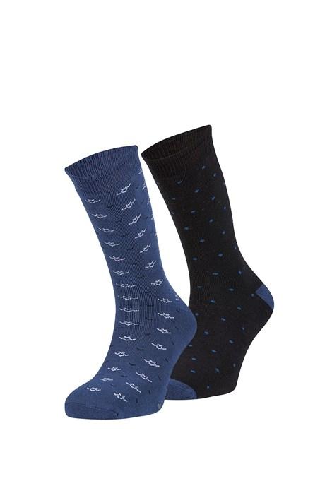 Ysabel Mora 2 pack hřejivých ponožek Jorge černomodrá uni