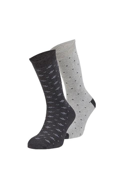 Ysabel Mora 2 pack hřejivých ponožek Jorge šedá uni