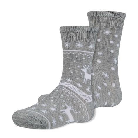 Ysabel Mora 2 pack dětských ponožek Invierno šedá 26-28