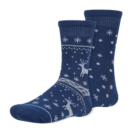 Ysabel Mora 2 pack dětských ponožek Invierno modrá 26-28