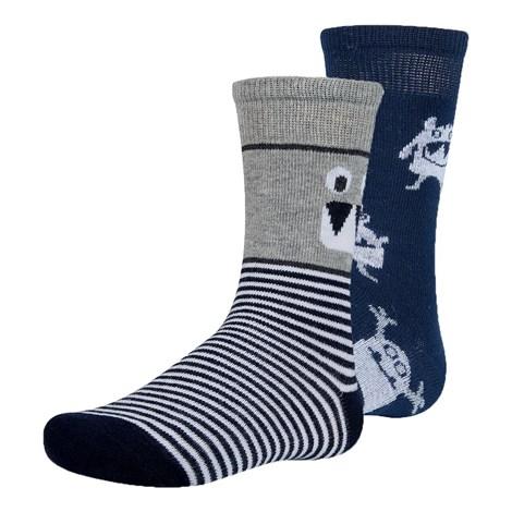 Ysabel Mora 2 pack dětských ponožek Slaem šedomodrá 35-37