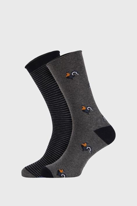 2 PACK šedomodrých ponožek Fantasy