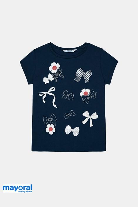 Dívčí tričko Mayoral  s mašličkami