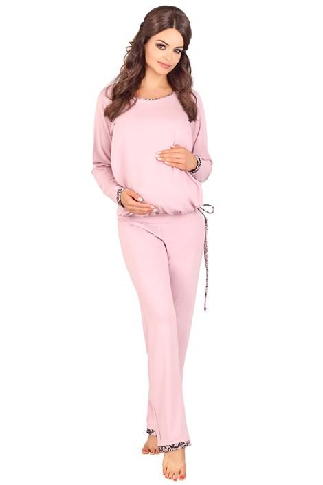 Lupoline Mateřské, kojicí pyžamo Agatha růžová 42