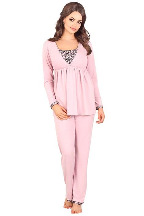 Lupoline Mateřské, kojicí pyžamo Tierra růžová 42