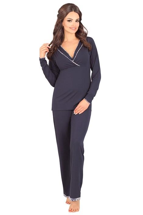 Lupoline Mateřské, kojicí pyžamo Danielle tmavěmodrá 42