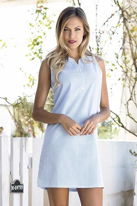 Jadea Dámské letní šaty Bernetta modré modrá M