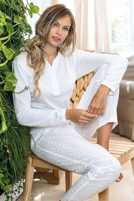 Jadea Dámské pyžamo Itaca bílá S