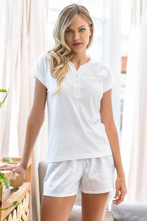 Jadea Dámské pyžamo Itaca krátké bílá M
