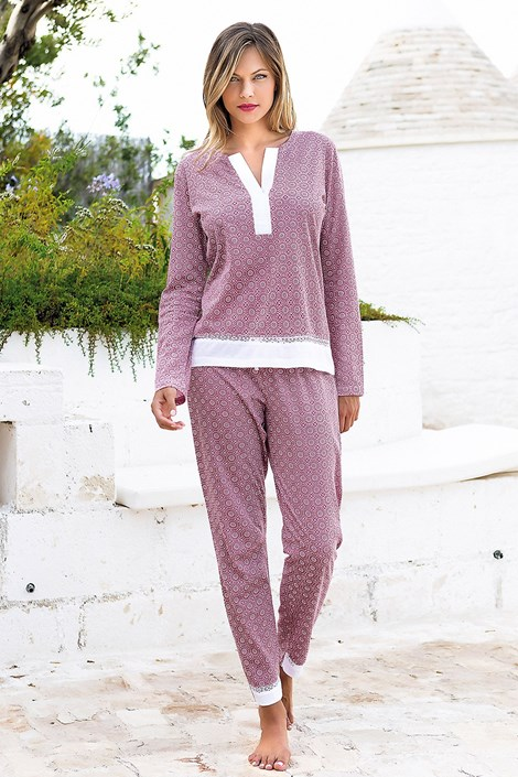 Jadea Dámské pyžamo Creta růžovofialová L