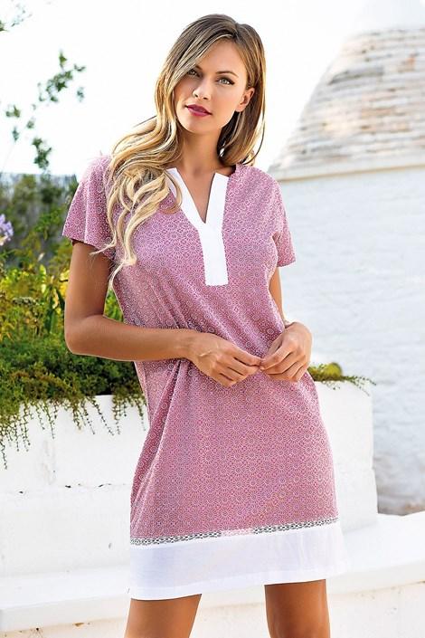 Jadea Dámská noční košilka Creta růžovofialová S