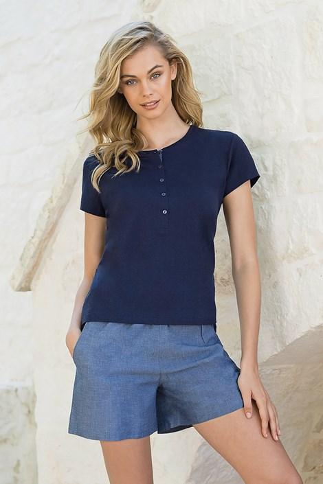 Jadea Dámský komplet trička a šortek modrá L