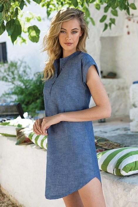 Jadea Dámské volnočasové šaty modrá L