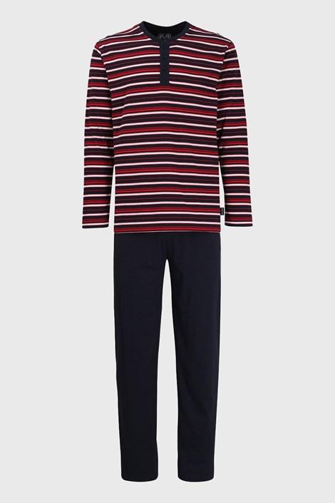 Červenomodré pruhované pyžamo