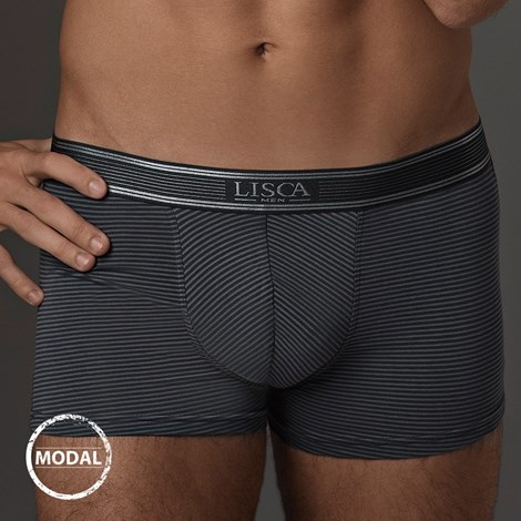 LISCA Pánské boxerky LISCA Modal Zeus Graphite grafitová S