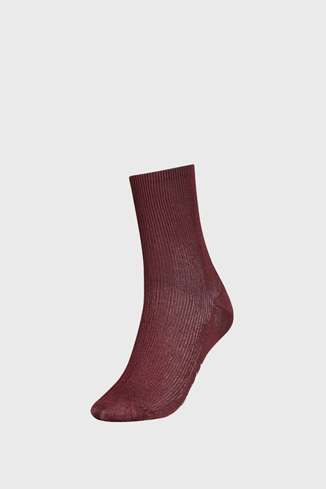 Dámské hnědé ponožky Tommy Hilfiger Small rib