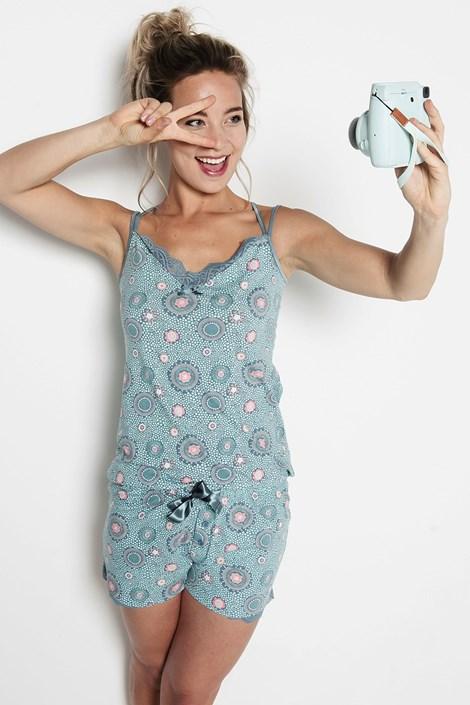 Van Gennip Textiles B.V. Dámské pyžamo Circles modrá XXL