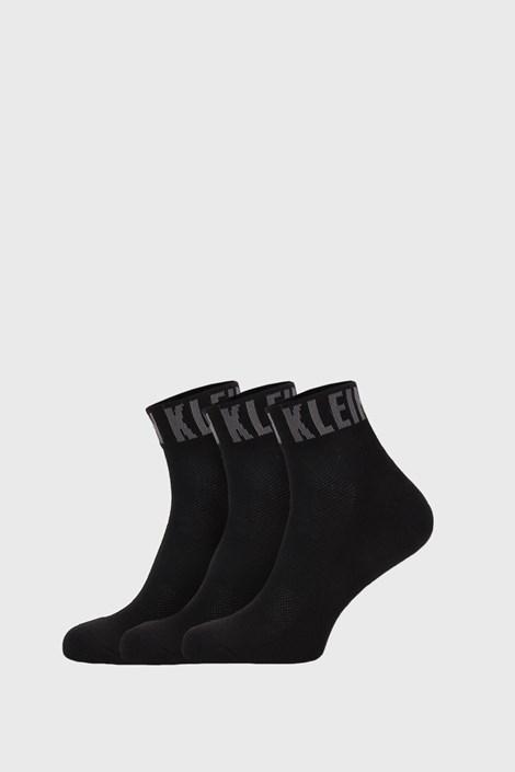 3 PACK černých ponožek Calvin Klein Drake