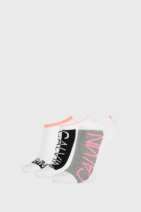 3 PACK dámských ponožek Calvin Klein Nola bílé