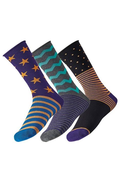 Ysabel Mora 3 pack pánských ponožek Star barevná 41-46