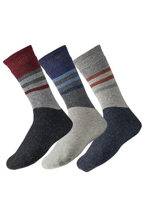 Ysabel Mora 3 pack pánských ponožek Angora barevná 41-46