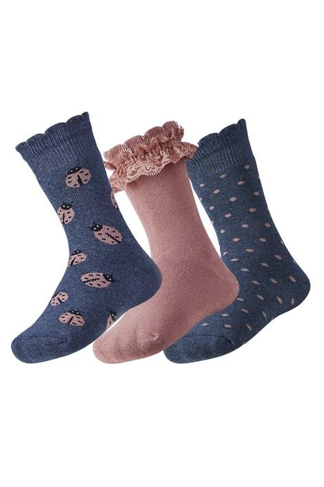 Lily meleg gyerek zokni, 3 pár 1 csomagban