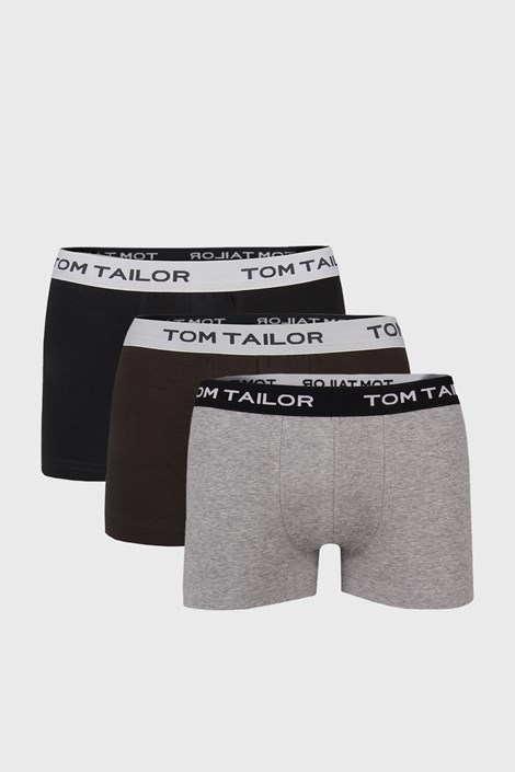 Tom Tailor 3 PACK boxerek Tom Tailor IV černošedá L