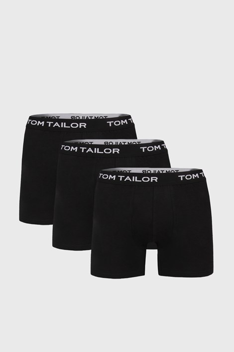 Tom Tailor 3 PACK delších černých boxerek Tom Tailor černá S