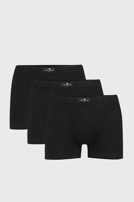 3 PACK černých boxerek Tom Tailor Hip