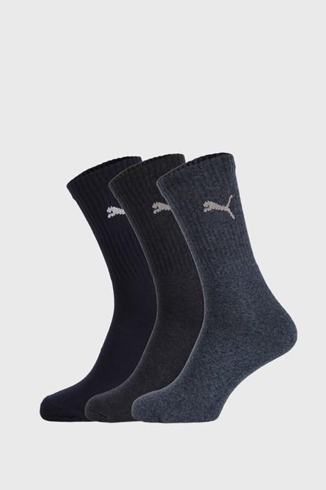 3 PACK tmavě modrých ponožek Puma Sport