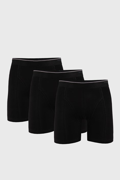 3 PACK černých boxerek Tender