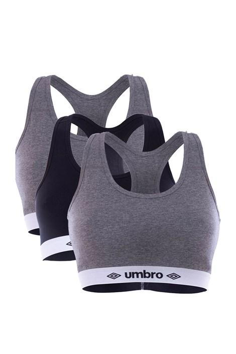 Umbro 3PACK dámských sportovních podprsenek Umbro A1 barevná XL