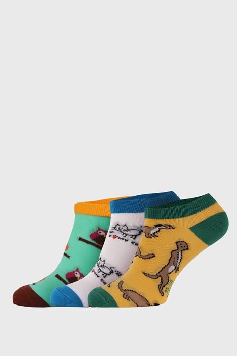 3 PACK nízkých ponožek Bellinda Crazy Animals