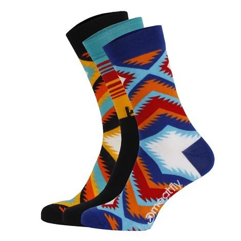 Meatfly 3 PACK barevných ponožek Meatfly Arizona vícebarevná S/M