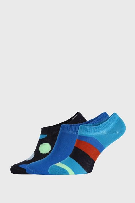 3 PACK ponožek Happy Socks Stripes No Show