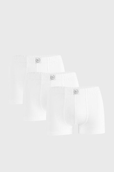 3 PACK bílých boxerek bugatti Finian