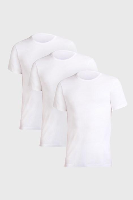 Cotonella 3 PACK bílých triček Uomo Comfort bílá XL