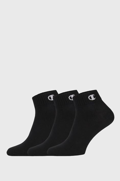 Champion 3 PACK kotníkových černých ponožek Champion černá 43-46