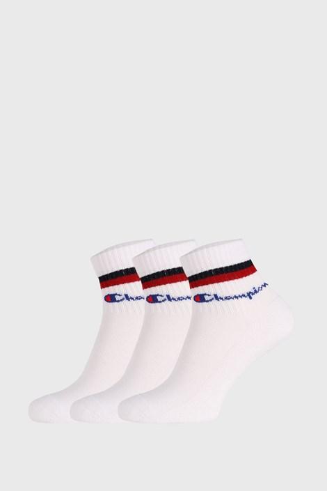 3 PACK bílých ponožek Champion Classic stripes