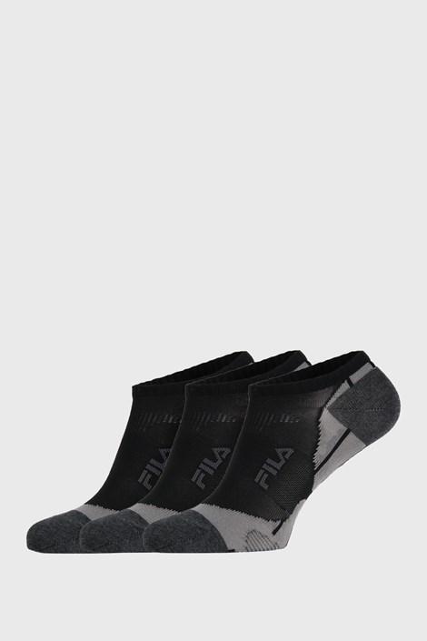 FILA 3 PACK černých ponožek FILA Invisible černá 43-46