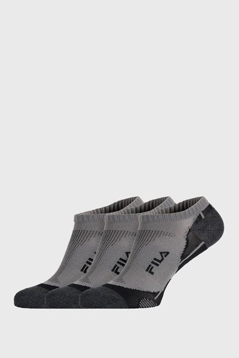 FILA 3 PACK šedých ponožek FILA Invisible šedá 43-46