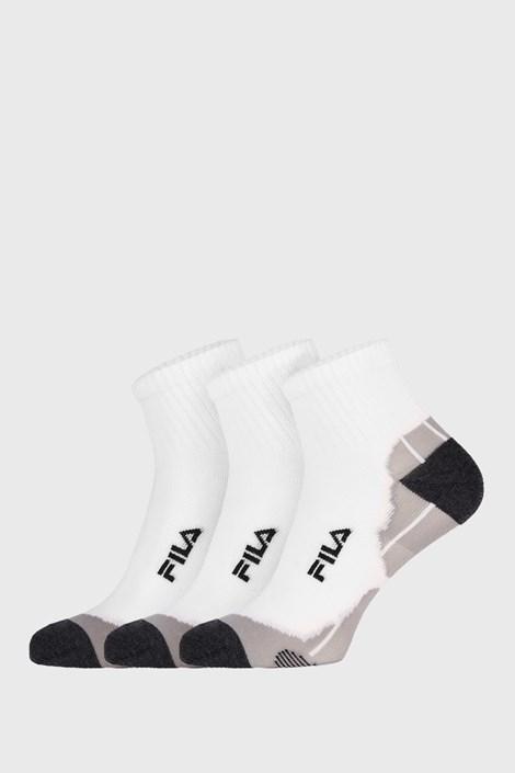 3 PACK bílých ponožek FILA Multisport