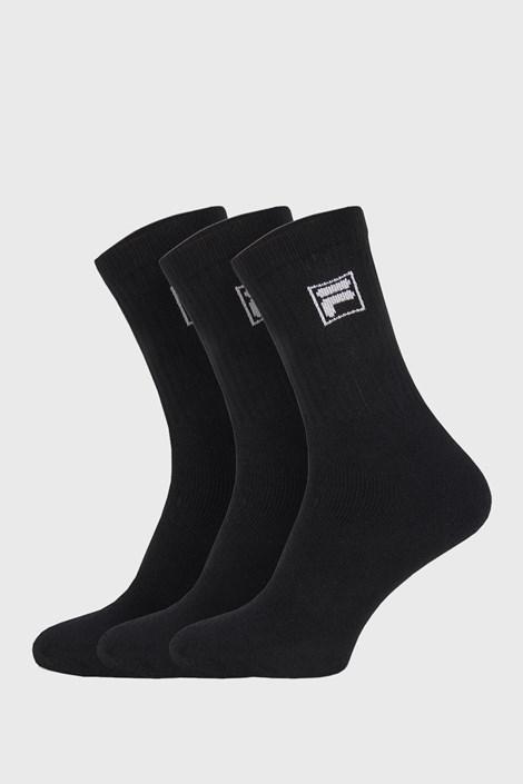 3 PACK černých vysokých ponožek s logem FILA