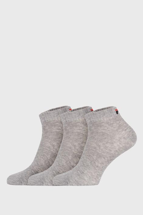 3 PACK šedých nízkých ponožek FILA