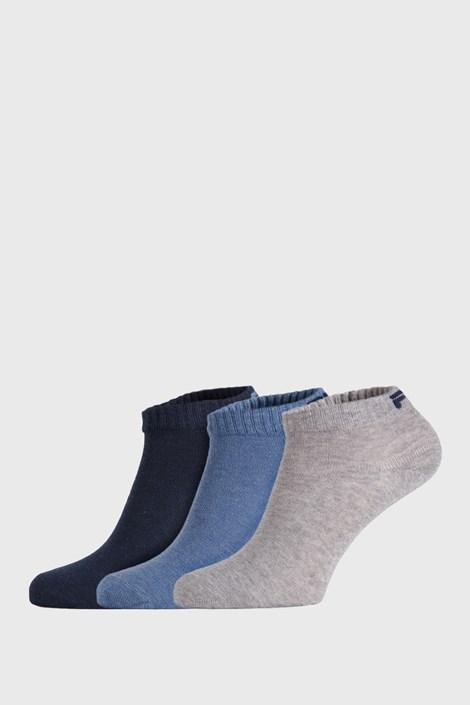 FILA 3 PACK nízkých ponožek FILA New Sky modrá 43-46