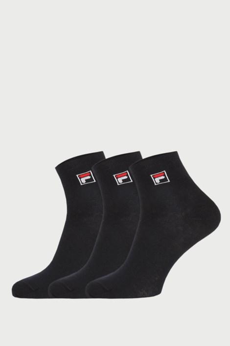 FILA 3 PACK černých kotníkových ponožek FILA černá 43-46