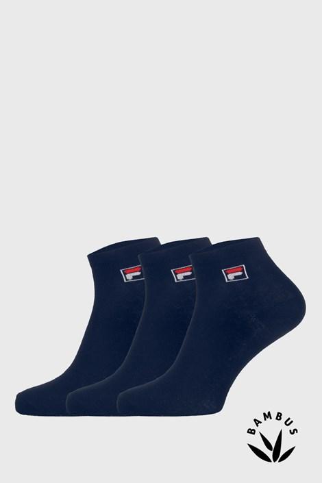 3 PACK tmavě modrých kotníkových ponožek FILA